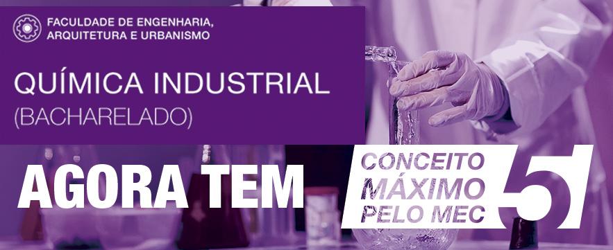 Química Industrial é conceito 5 pelo MEC