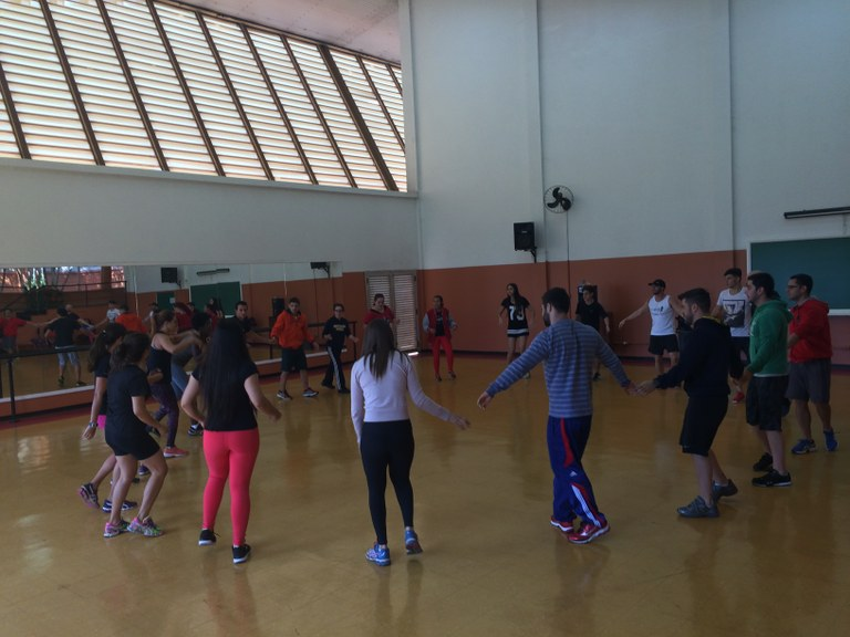 Atividade prática do curso de Educação Física - campus Taquaral