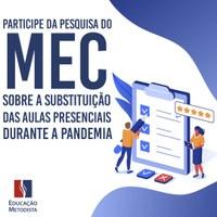 MEC promove pesquisa para promover ações e melhorias no Ensino Remoto Online
