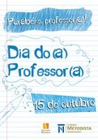 15 de outubro será feriado escolar pelo Dia do Professor