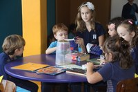 """A """"Hora do Conto"""" acontece semanalmente para os Anos Iniciais do Ensino Fundamental"""