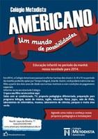 Americano oferece Educação Infantil no turno da manhã em 2014