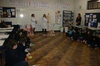 Aula de Anatomia Humana destinada ao 5º ano do Ensino Fundamental aconteceu na manhã desta segunda-feira (26