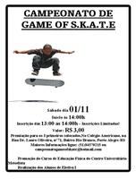 Colégio Americano sedia Campeonato Skate's Games no sábado (01/11)