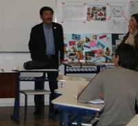 Diretor de escola Metodista do Peru visita o Colégio Americano