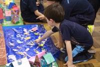 """Estudantes do Nível 3 da Educação Infantil fazem trabalhos inspirados no livro """"A Ponte"""""""