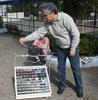 Fogão Solar é atração na tarde do Colégio Americano