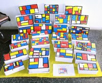 Projeto de Artes do 2º ano do Ensino Fundamental aborda obra de Piet Mondrian