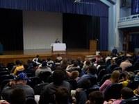 Radialista Haroldo de Souza empolga estudantes do Americano