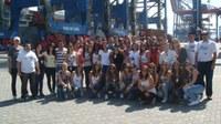 Alunos da FGN conhecem terminal de contêineres em Santos