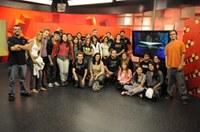Alunos do curso de rádio e TV visitam a TV Cultura em São Paulo