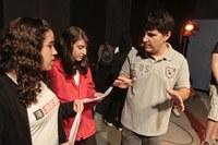 Alunos do Sesi participam de oficinas no Laboratório de Comunicação