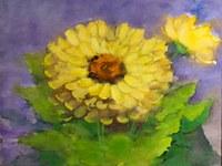 Artistas apresentam flores sobre diferentes pontos de vista