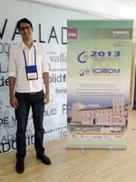 Doutorando de eng. de produção participa de congresso na Espanha