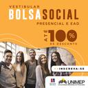 Inscrições abertas: processo seletivo da Bolsa Social Unimep de até 100% em cursos presenciais e a distância