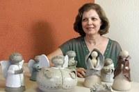 Lúcia Portella expõe criações natalinas no campus Taquaral