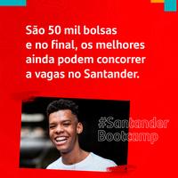 Santander abre inscrições para Programa Bootcamp e oferece 50 mil bolsas de estudo de especialização em Tecnologia da Informação