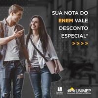 Sua nota no ENEM vale desconto na Unimep