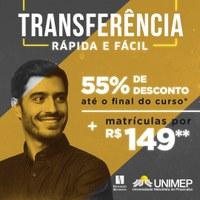 #VemSerUnimep: solicite sua Transferência e garanta 55% nas mensalidades