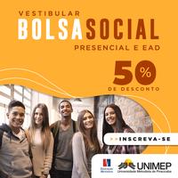 Unimep inscreve para bolsas sociais de 50% em cursos presenciais e a distância